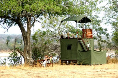 fly camping selous