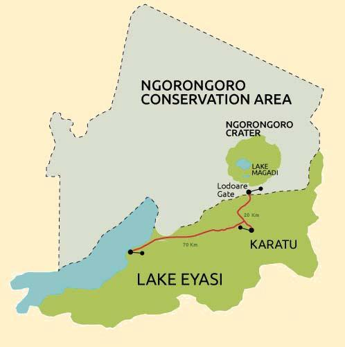 lake eyasi map