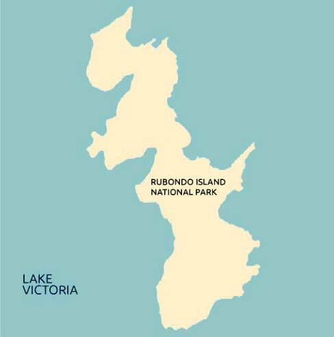 rubondo island national park map