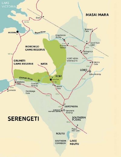 serengeti national park map 1