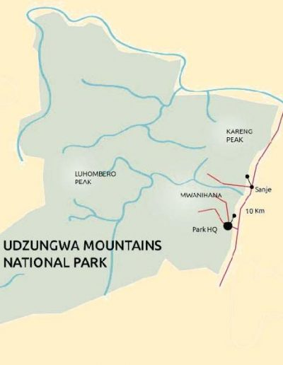 udzungwa mountains national park map 1